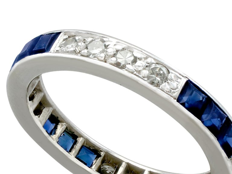2058ae7fe76a5 Antique Sapphire and Diamond White Gold Full Eternity Ring