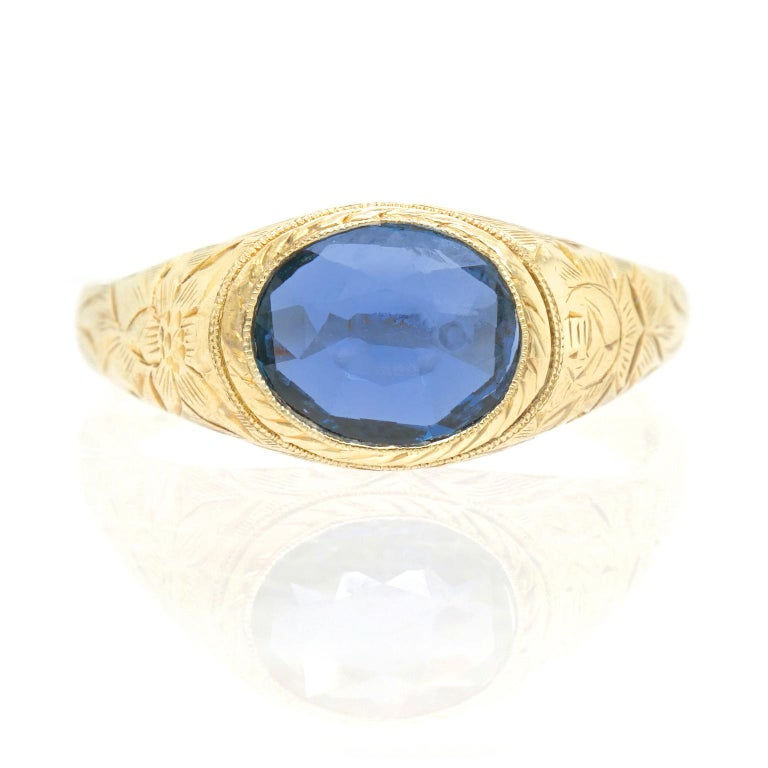 Victorian Antique Sapphire Ring For Sale
