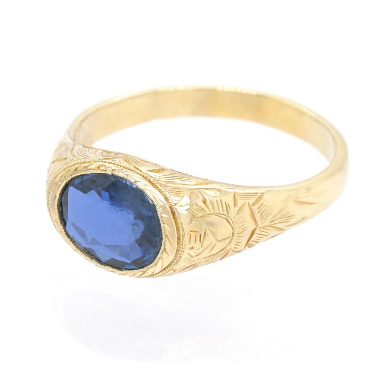 Antique Sapphire Ring For Sale 2