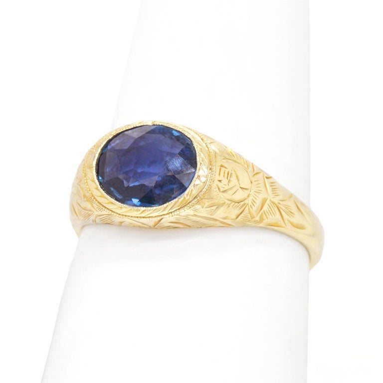 Antique Sapphire Ring For Sale 3