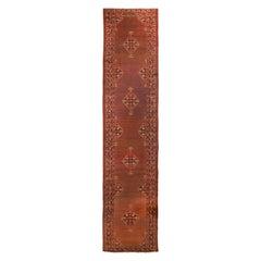 Antique Sarab Red Geometric Floral Wool Persian Runner
