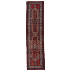 Antique Sarab Runner with Rich Tones