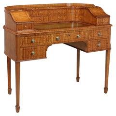 Antique Satinwood Carlton House Desk c1900