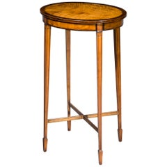 Antique Satinwood Oval Lamp Table
