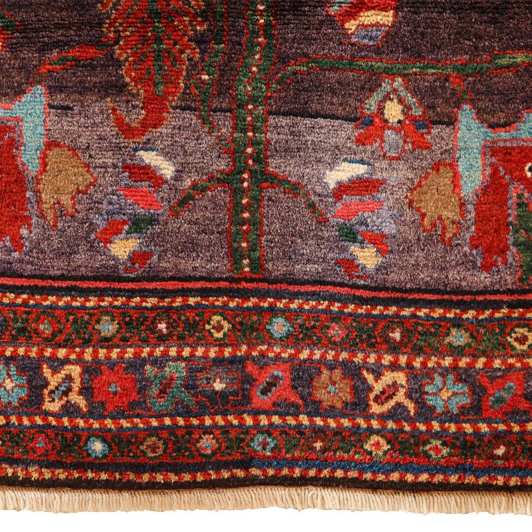 Antique Saveh Persian Carpet in Pure Wool and Vegetable Dyes, circa 1910 For Sale 6