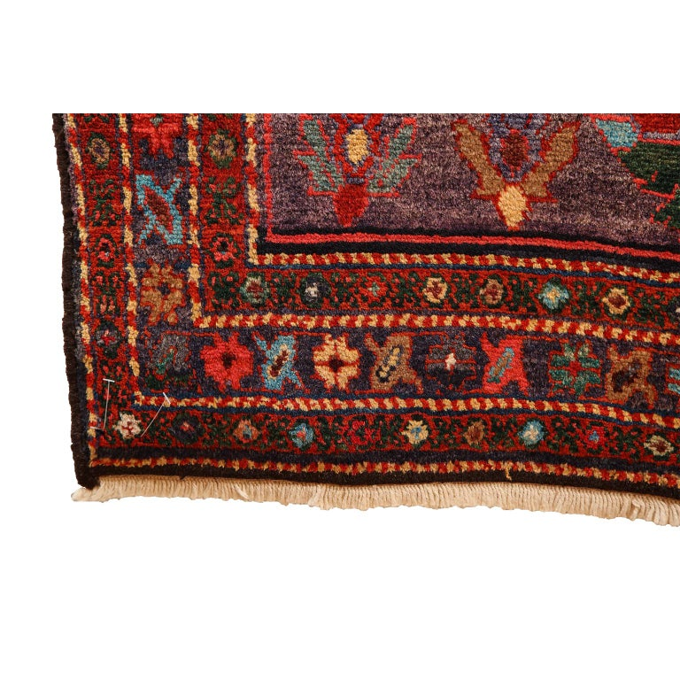 Antique Saveh Persian Carpet in Pure Wool and Vegetable Dyes, circa 1910 For Sale 8