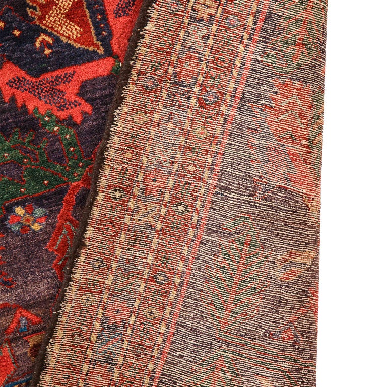 Antique Saveh Persian Carpet in Pure Wool and Vegetable Dyes, circa 1910 For Sale 9