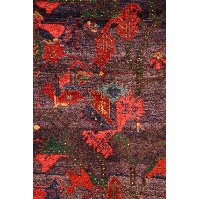 Antique Saveh Persian Carpet in Pure Wool and Vegetable Dyes, circa 1910 In Good Condition For Sale In New York, NY