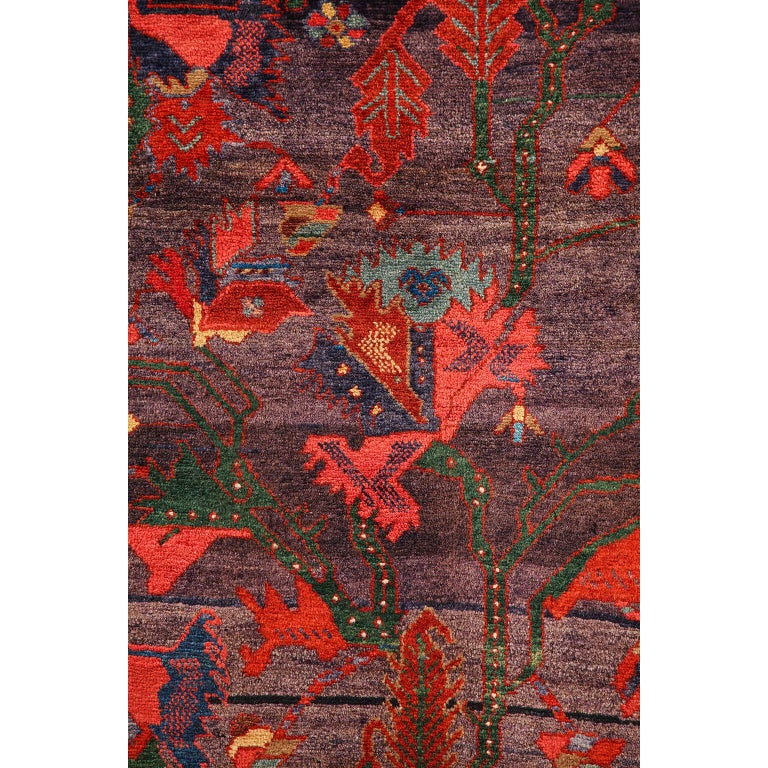 Antique Saveh Persian Carpet in Pure Wool and Vegetable Dyes, circa 1910 For Sale 1