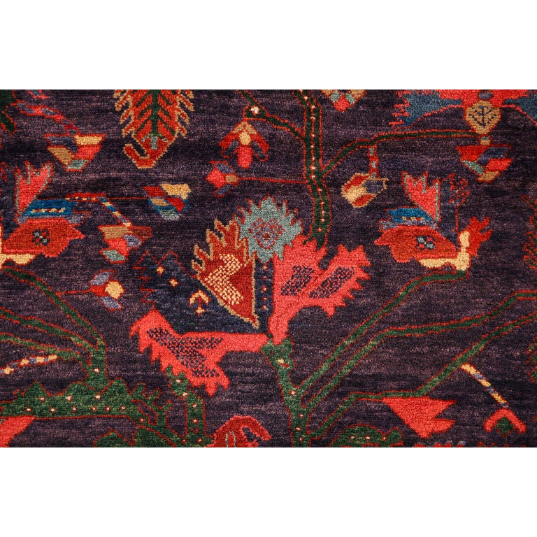 Antique Saveh Persian Carpet in Pure Wool and Vegetable Dyes, circa 1910 For Sale 2