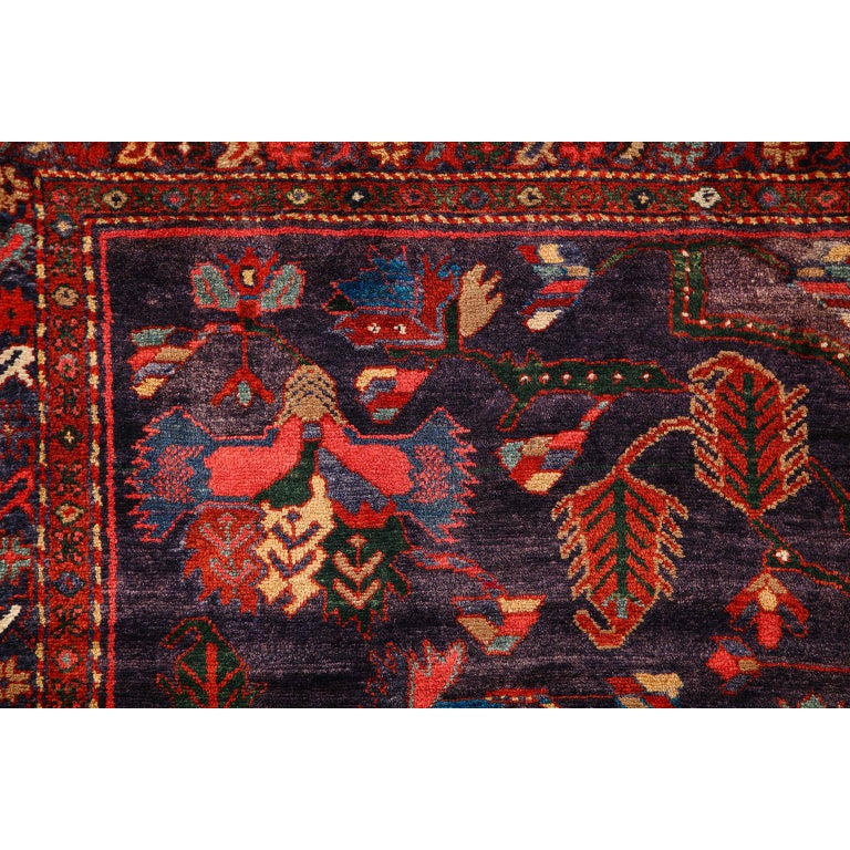 Antique Saveh Persian Carpet in Pure Wool and Vegetable Dyes, circa 1910 For Sale 3