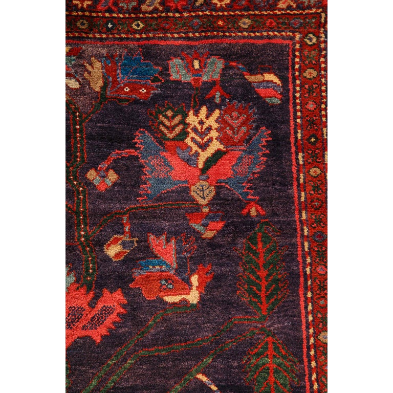 Antique Saveh Persian Carpet in Pure Wool and Vegetable Dyes, circa 1910 For Sale 4