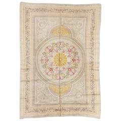 Antique Savonnerie Carpet, France, Late 19th Century