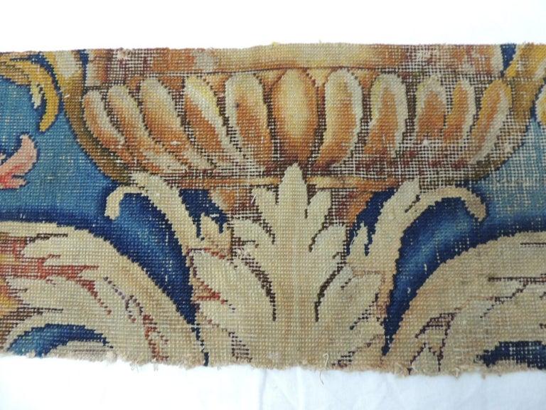 Baroque Revival Antique Savonnerie Rug Fragment For Sale