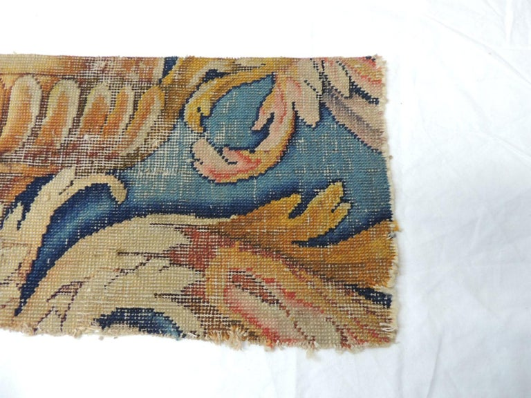 French Antique Savonnerie Rug Fragment For Sale
