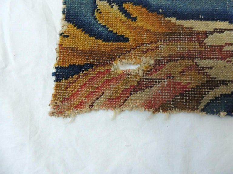 Hand-Crafted Antique Savonnerie Rug Fragment For Sale
