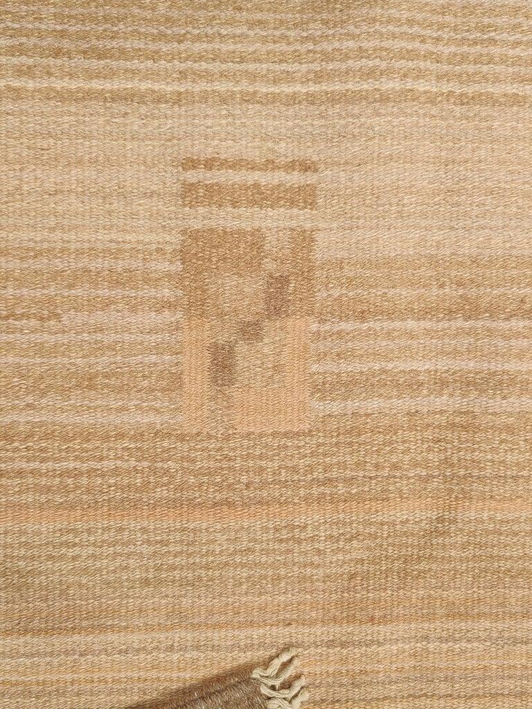 Wool Antique Scandinavian Art Deco/Bauhaus Rug by Laila Karttunen