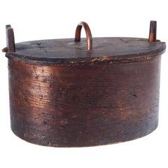 "Antique Scandinavian Bentwood ""Tine"" Box, Late 19th Century"