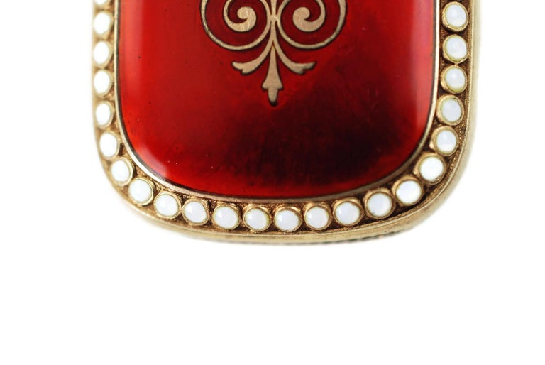 Antique Scandinavian Enameled Sterling Silver Vesta Case with Neoclassical Motif For Sale 6