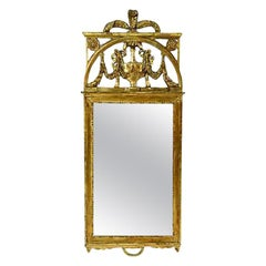 Antique Scandinavian Giltwood Mirror