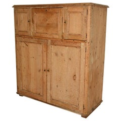 Antique Scandinavian Pine Cupboard