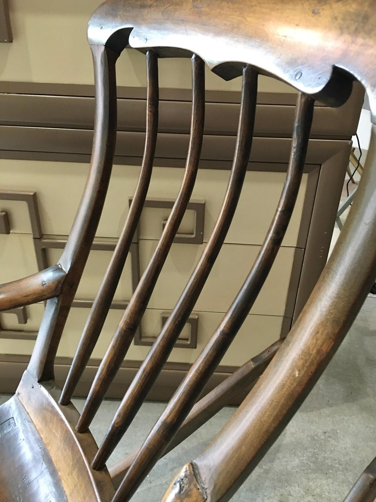 Antique Scandinavian Rocking Chair For Sale 3