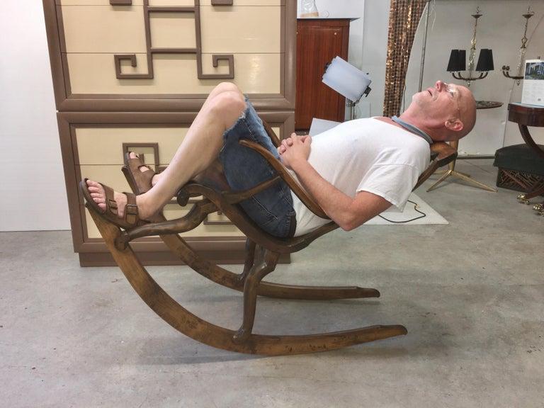 Antique Scandinavian Rocking Chair For Sale 12