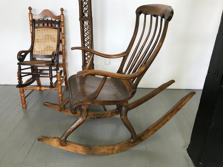 Scandinavian Modern Antique Scandinavian Rocking Chair For Sale