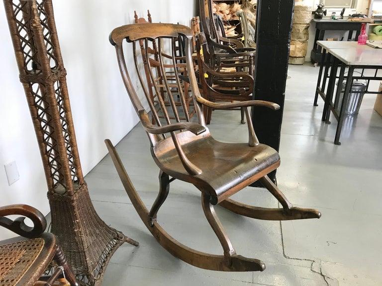 Swedish Antique Scandinavian Rocking Chair For Sale