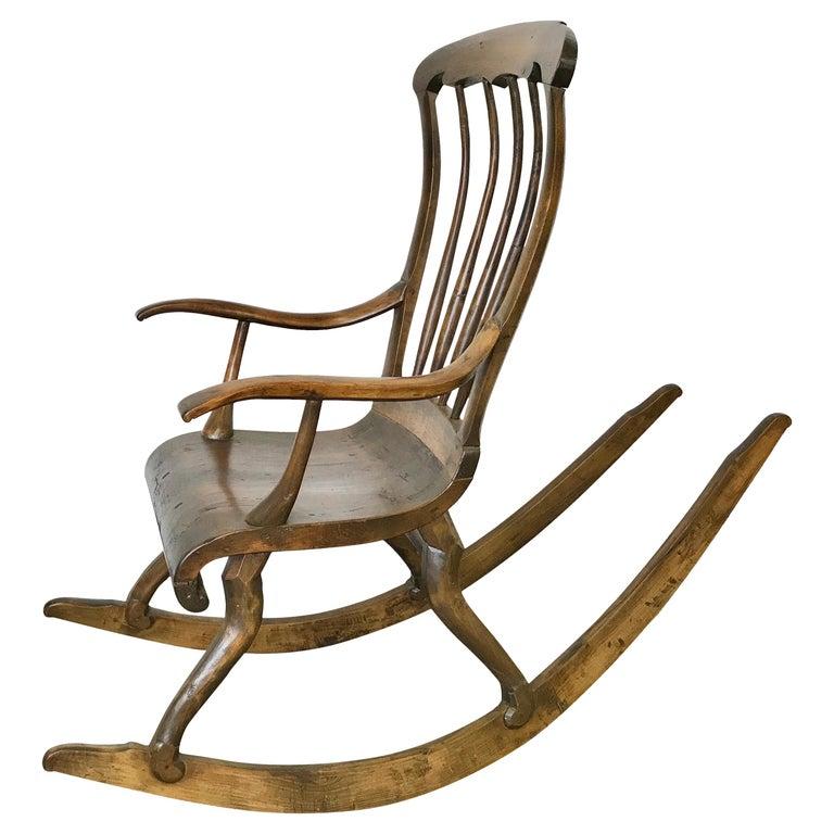 Antique Scandinavian Rocking Chair For Sale