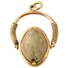 Antique Scarab Gold Fob or Pendant or Charm