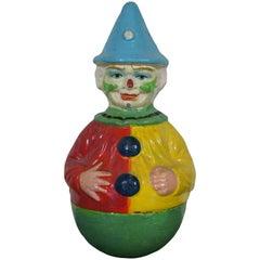 Antique Schoenhut Papier Mâché Roly Poly Clown Toy