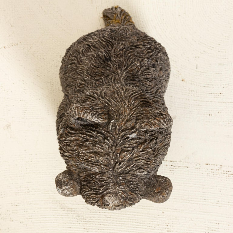 Other Antique Scottie Dog with Bone Garden Ornament For Sale