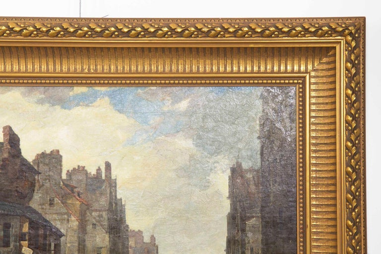 Antique Scottish Oil Painting of John Knox House, circa 1840-1860 For Sale 9