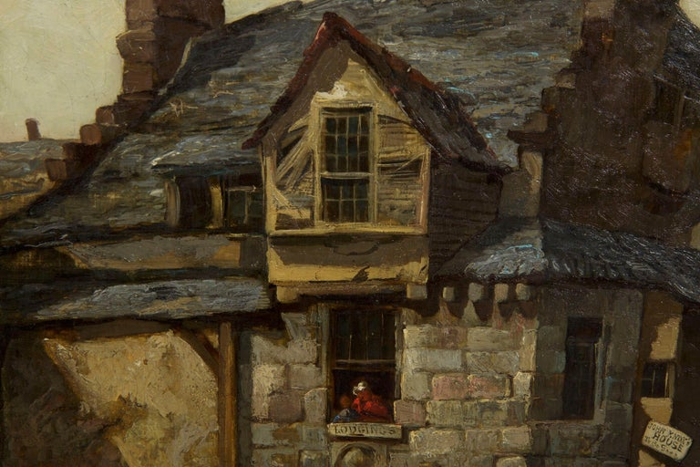Antique Scottish Oil Painting of John Knox House, circa 1840-1860 For Sale 3