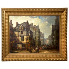 Antique Scottish Oil Painting of John Knox House, circa 1840-1860