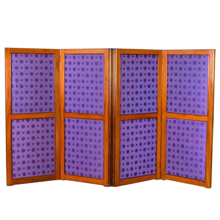 Antique Folding Screen Edwardian Room Divider Photographers Prop
