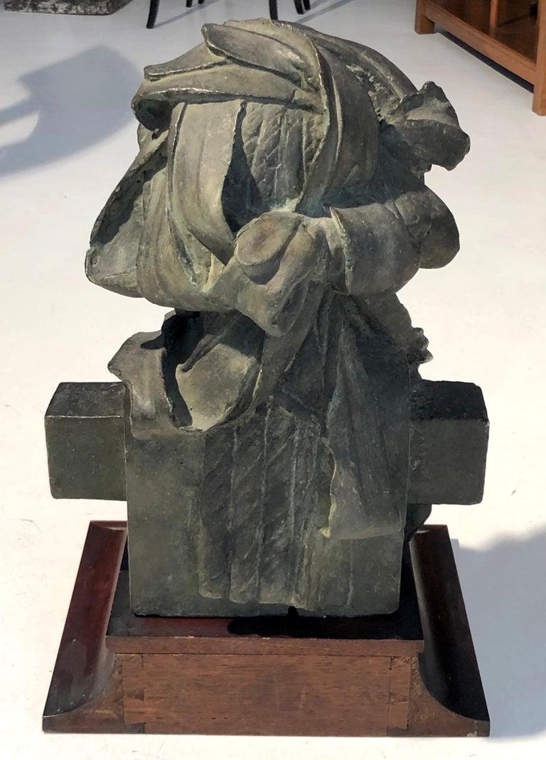 Napoleon III Antique Sculpture Dionysos Herm Plaster Cast Mahogany France For Sale
