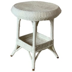 Antique Seagrass Table