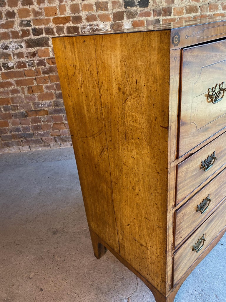 Antique Secretaire Chest of Drawers Mahogany Victorian 19th Century, circa 1880 For Sale 4