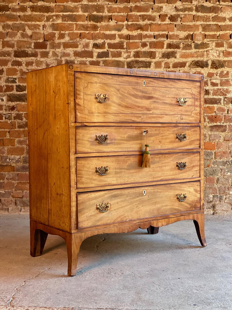 Antique Secretaire Chest of Drawers Mahogany Victorian 19th Century, circa 1880 For Sale 1