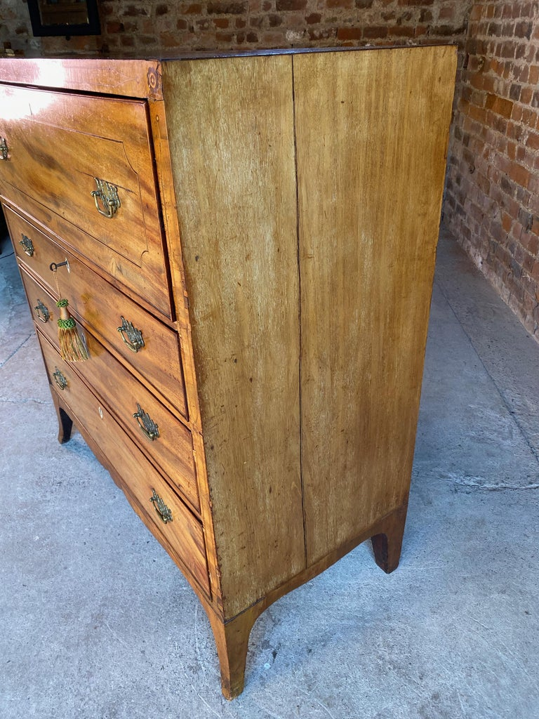 Antique Secretaire Chest of Drawers Mahogany Victorian 19th Century, circa 1880 For Sale 3