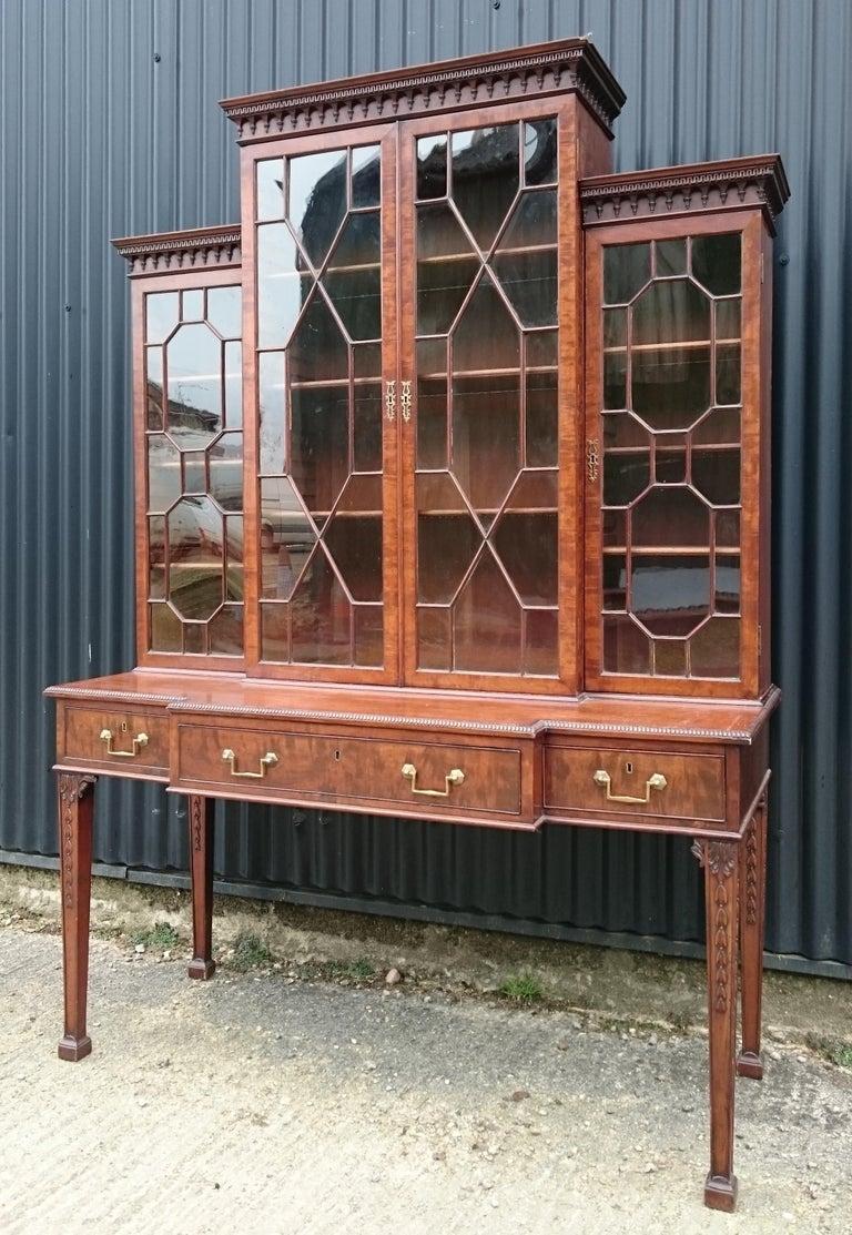 George III Antique Secretary Bookcase For Sale