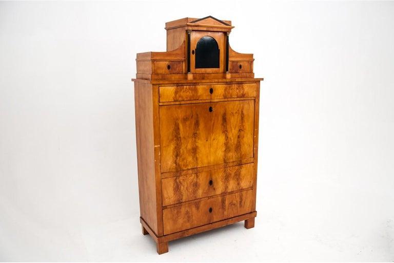 Antique Secretary Desk, Empire Style, circa 1820 In Good Condition For Sale In Chorzów, PL