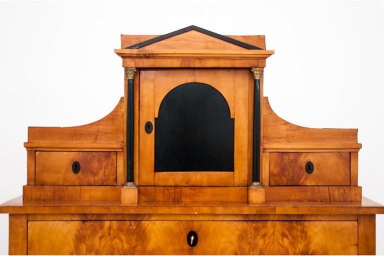 Antique Secretary Desk, Empire Style, circa 1820 For Sale 2