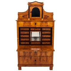 Antique Secretary Desk, Empire Style, circa 1820