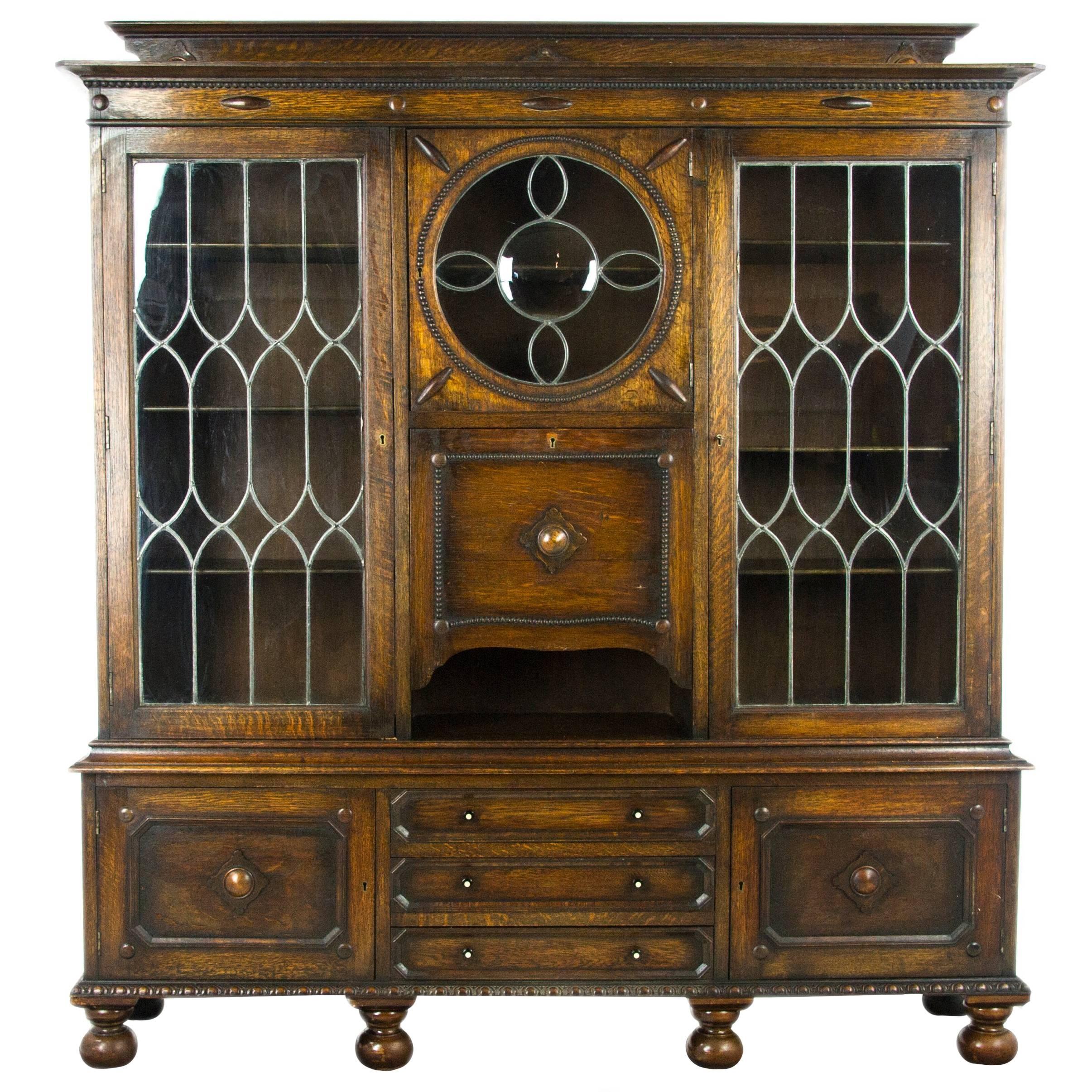 antique secretary desk oak bookcase scotland 1910 antique rh 1stdibs com 1910 furniture catalog 1910 furniture for sale