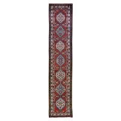 Antique Serab Handmade Rust Tribal Wool Runner