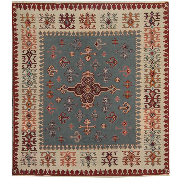 Caucasian Kilim Rug: Antique Serbian Pirot, Kilim Rugs, Vintage Kilim Rugs