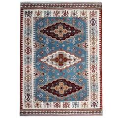 Antique Rug Serbian, Handmade Carpet, Vintage Kilim Rugs, Geometric Oriental Rug